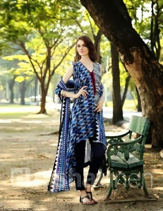 Nishat Linen Blue Summer Collection 2014