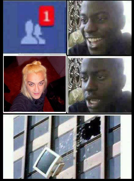 Meme del traba argentino que baila en Facebook