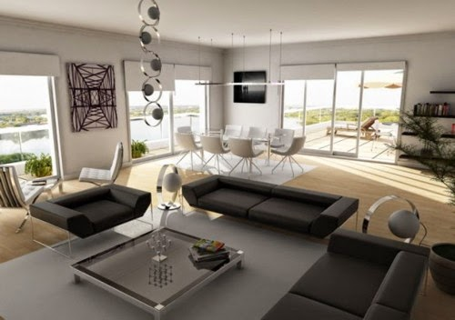 minimalist living and dining room combo pictures