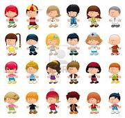 Los niños son nuestro mayor tesoro. -Todos sabemos que son los portadores de . niã±os tesoro los ninos ninas el vector personajes de dibujos animados