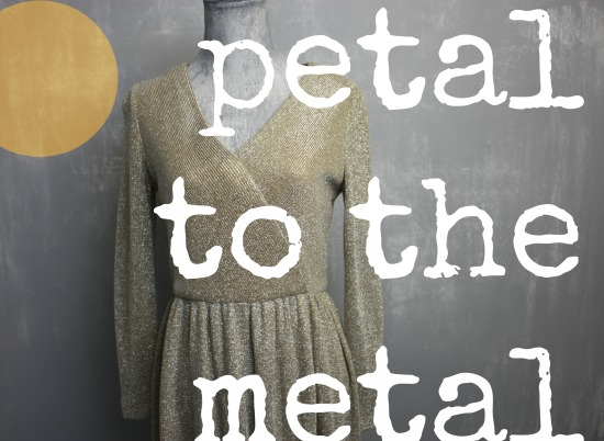 Petal to Metal: blooming in vintage metallics
