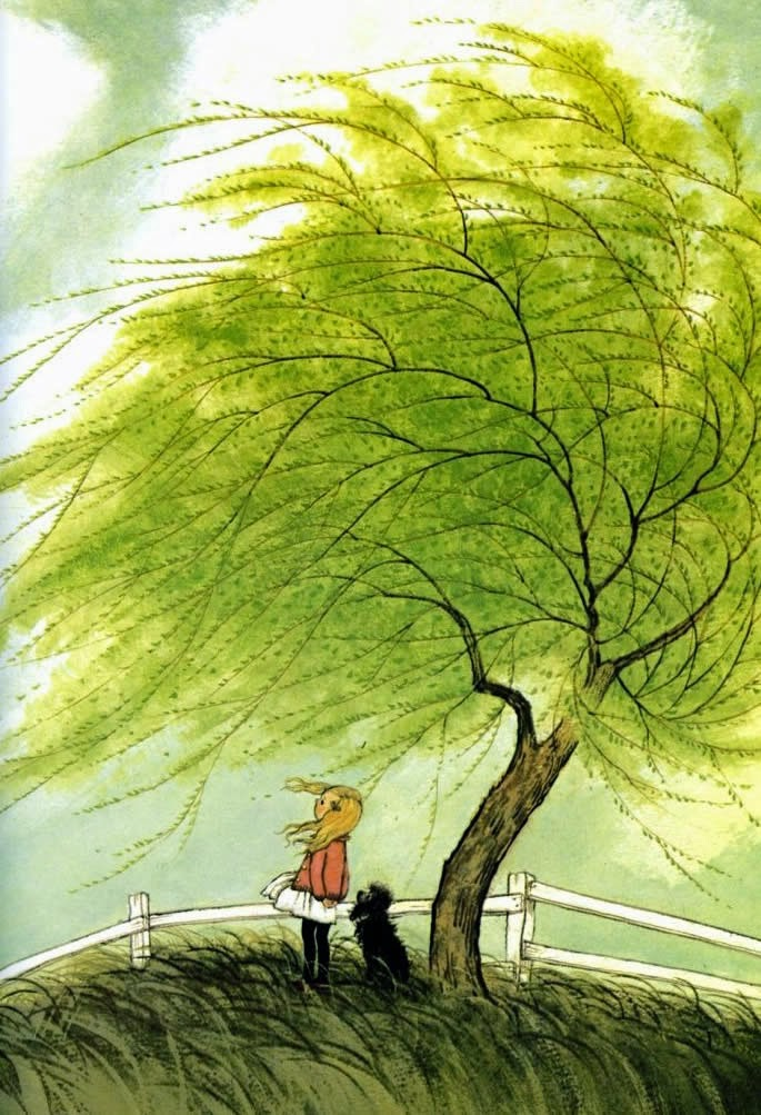 Illustration from A Child's Book of Poems by Gyo Fujikawa. Her vintage-y art has been one of my favorites since I came across her book a couple of years ago.