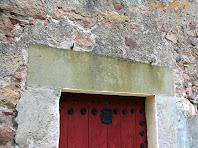 Detall de la llinda de la porta de Can Tauler. Autor: Carlos Albacete
