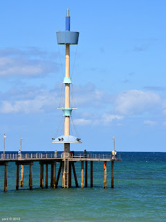 brighton's big blue jetty tower