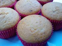 Cupcake de Fubá e Laranja (vegana)