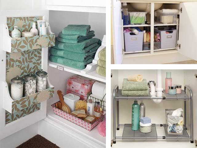 Under Sink Bathroom Cabinet Shelving And Storage