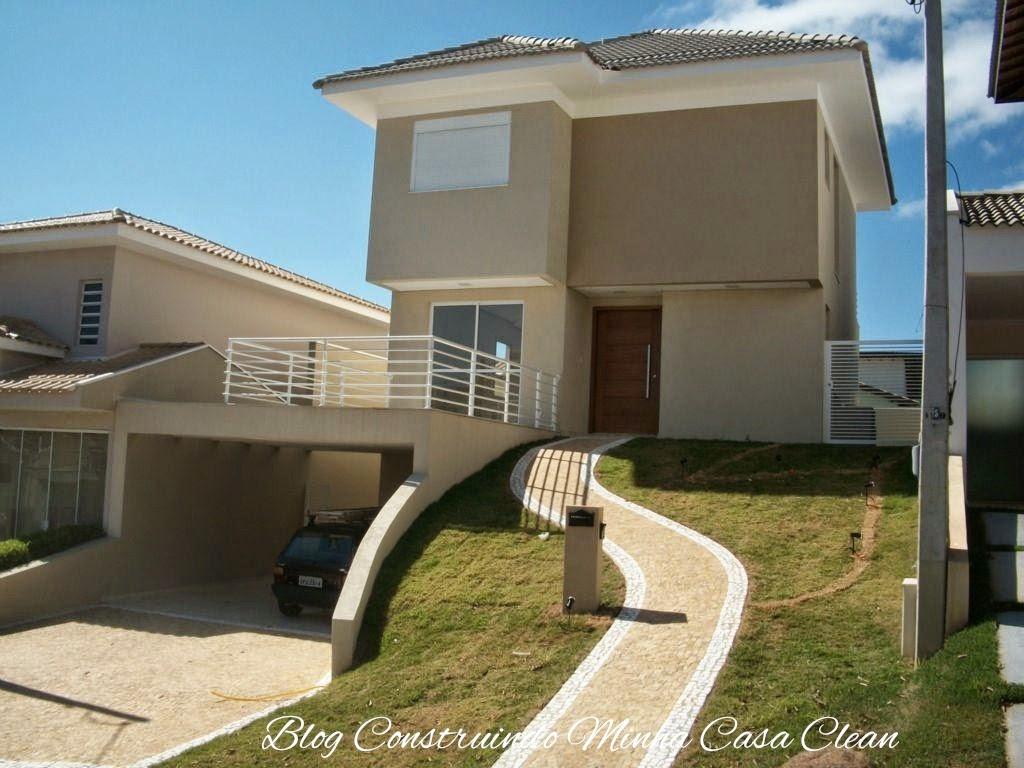 Construindo minha casa clean fachadas de casas em - Casa con terreno murcia ...
