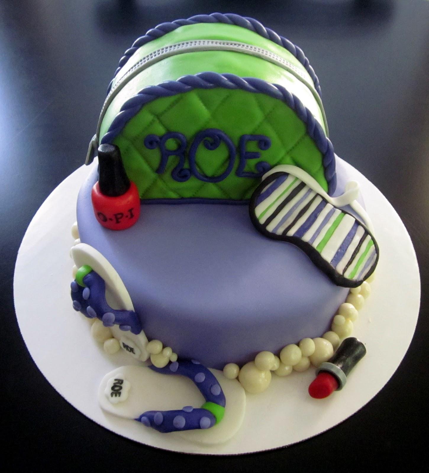 Darlin Designs Spa Birthday Cake