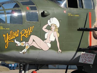 Randolph Air Force Base 2011 Air Show: B-25 Mitchell - Yellow Rose (Zoom)