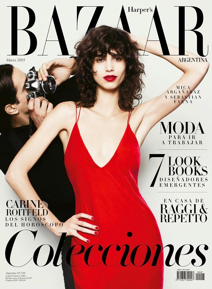 Model @ Mica Arganaraz for Harper's Bazaar Argentina March 2015