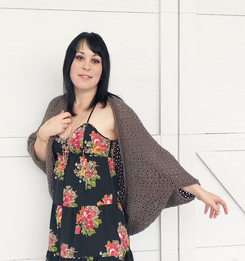 Domestic Bliss Squared: the cozy cocoon cardigan, a free crochet ...