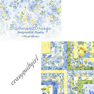 Moda SUMMER BREEZE Quilt Fabric by Sentimental Studios