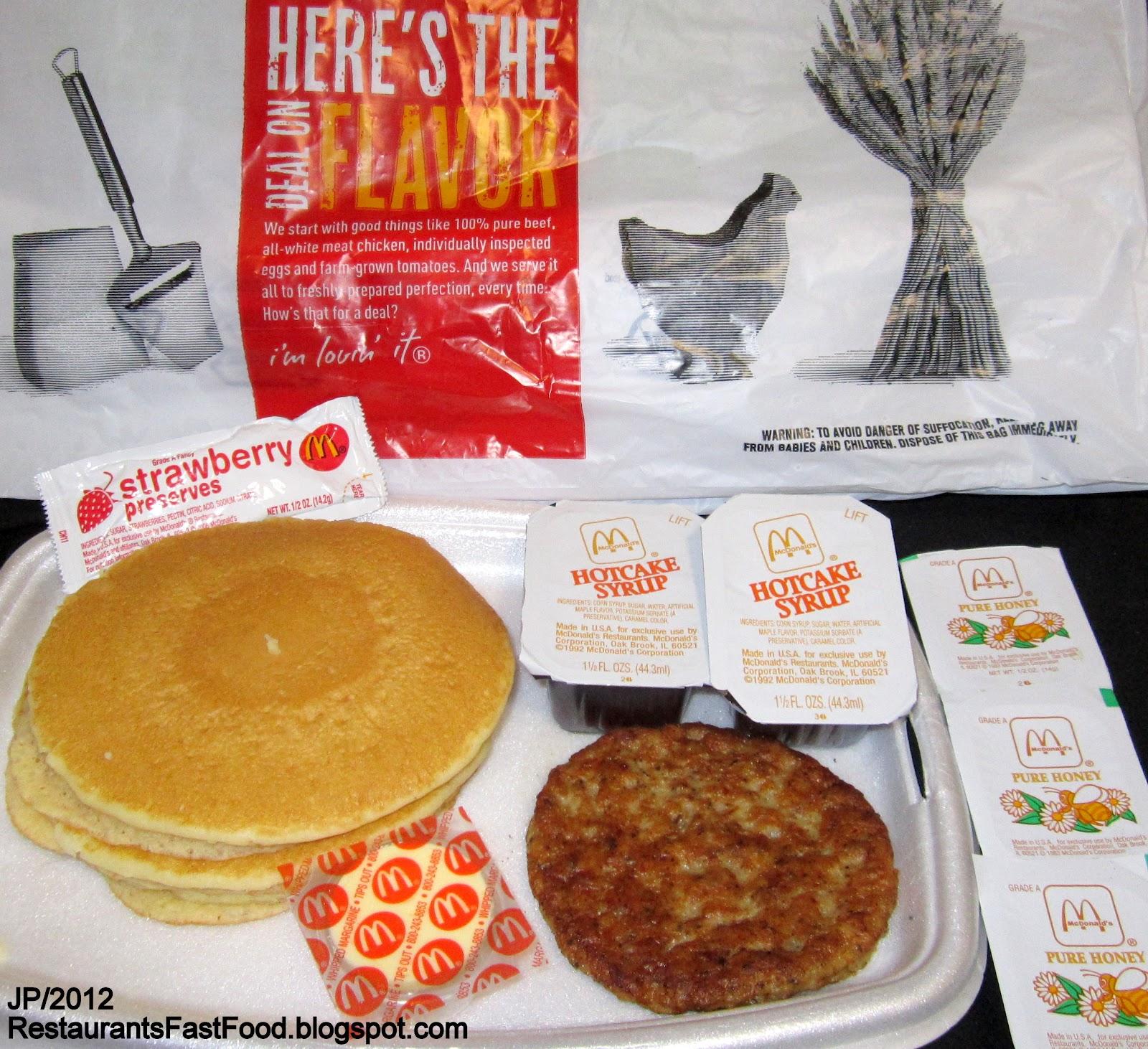 Restaurant Fast Food Menu McDonald's DQ BK Hamburger Pizza Mexican ...