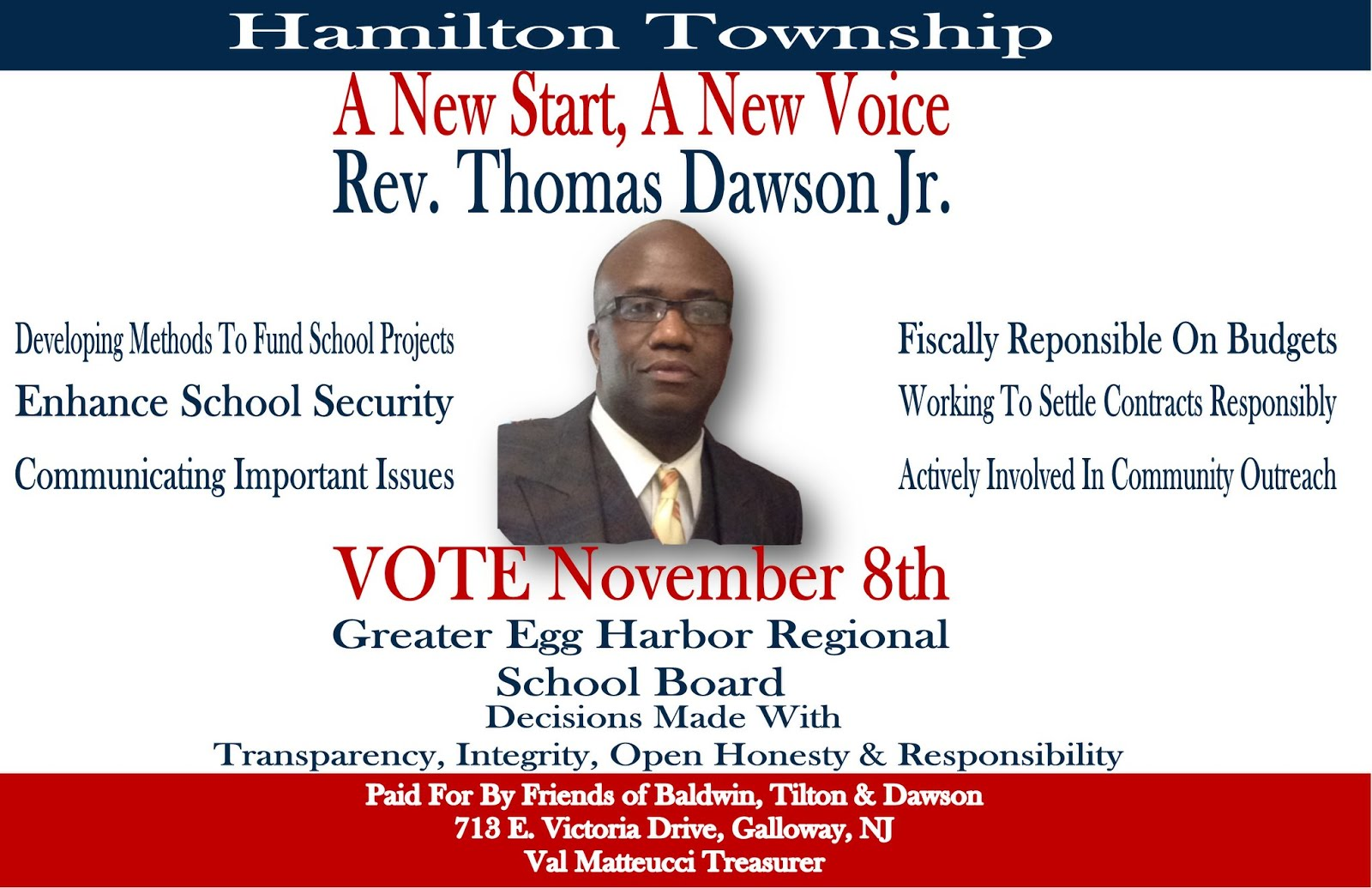 Hamilton Team (Rev. Dawson Jr.)