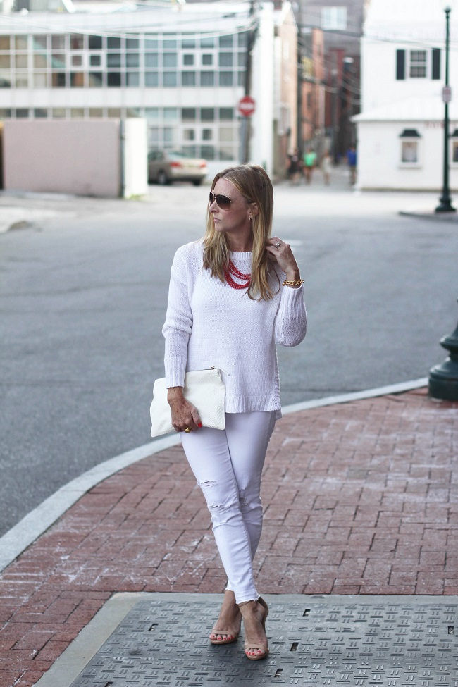 jbrand distressed white jeans