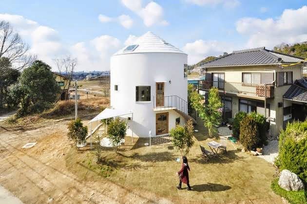 TOP 7 UNIQUE HOUSE DESIGN: UNIQUE SILO-STYLE HOME DESIGN HAS A DUAL NATURE AND A NUMBER OF UTTERLY UNCOMMON ELEMENTS SENDAI, JAPAN