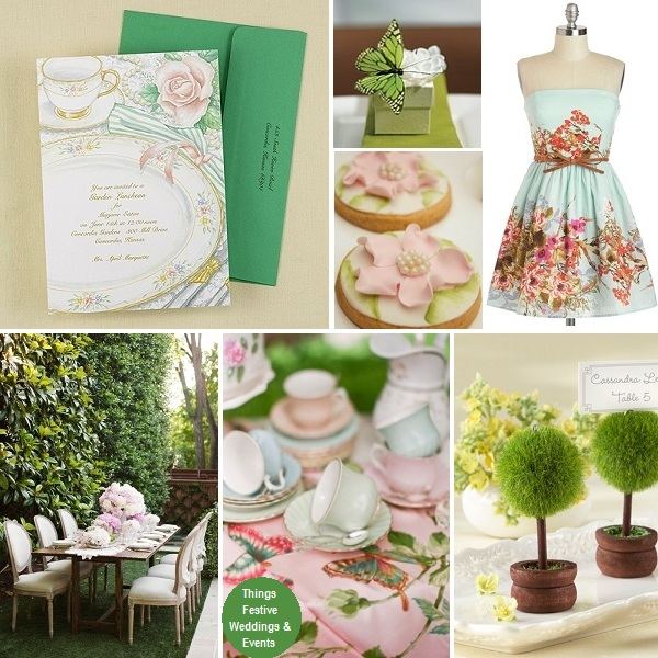Garden Tea Party Bridal Shower Featuring Pantone 39 S Emerald