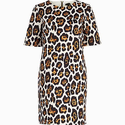 river island leopard dress