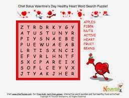 Valentine Word Search easy 4