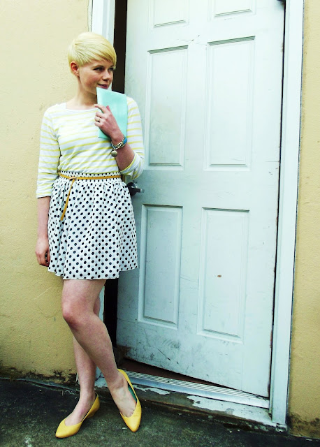 fleur d'elise, blonde, pixie cut, seattle, blogger, fashion, spring
