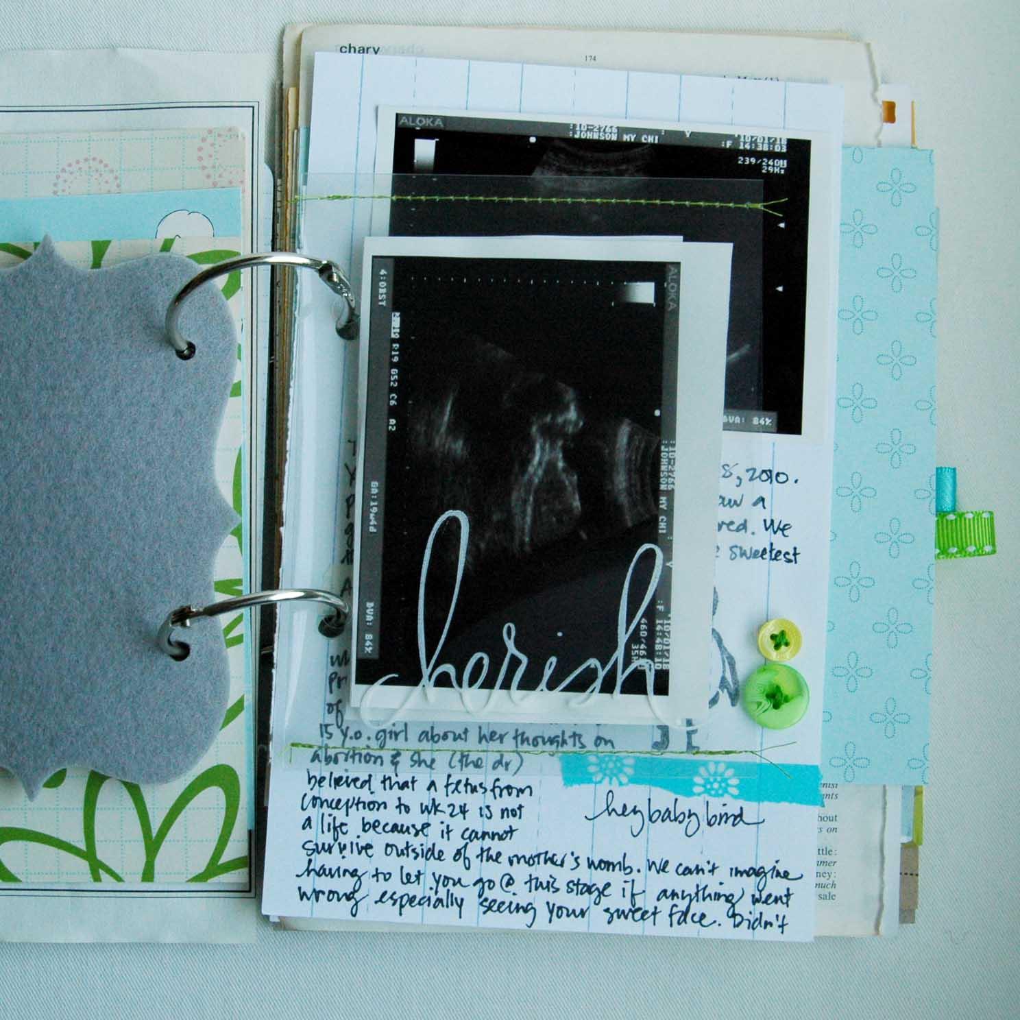Baby journal scrapbook ideas - Baby Art Journals