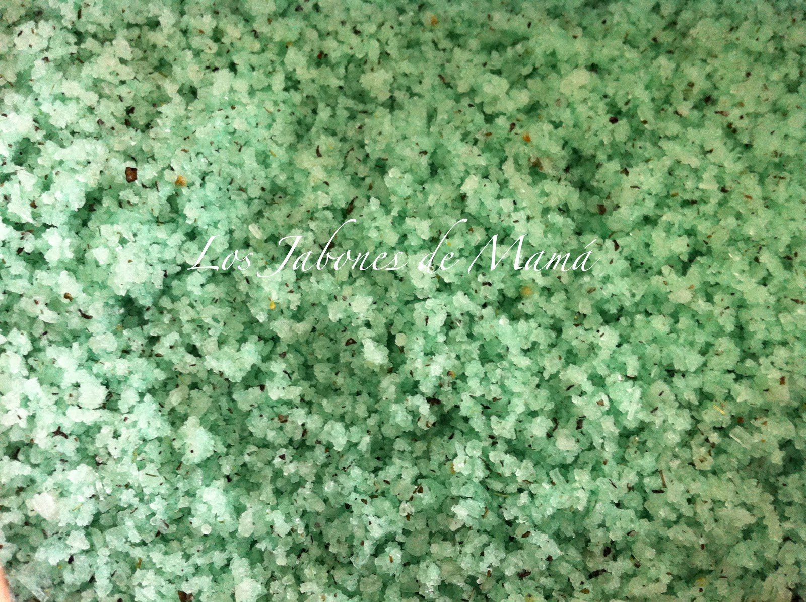 Baños Color Verde Limon:Los Jabones de Mamá: Sales de Baño de Té Verde, Limón y Menta