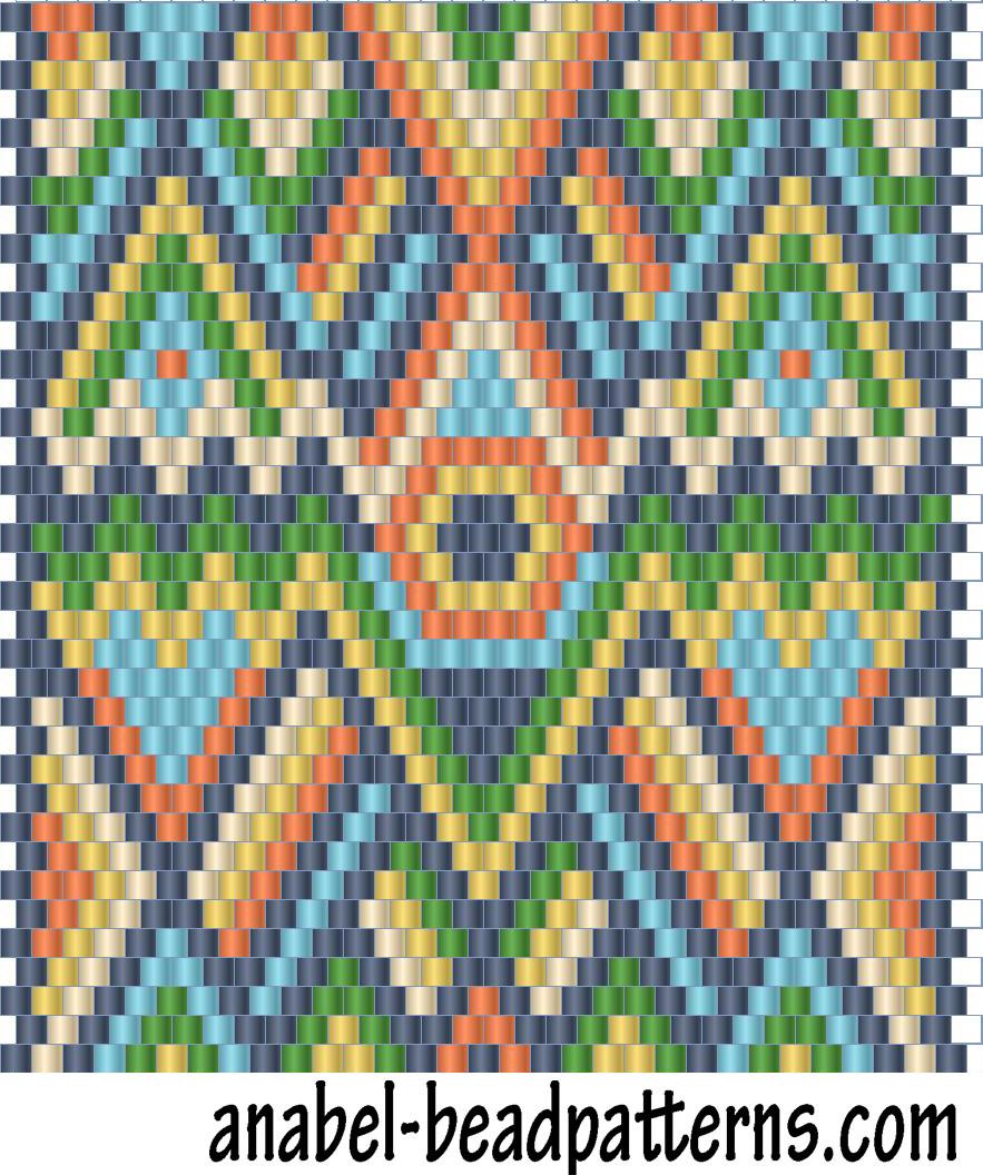 схема плетения из бисера украинских мотивов