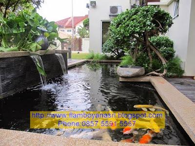 Tukang Taman Surabaya Konsep kolam eksotis