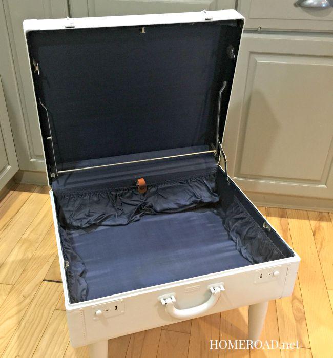 Repurposed Vintage Suitcase Table Www.homreoad.net