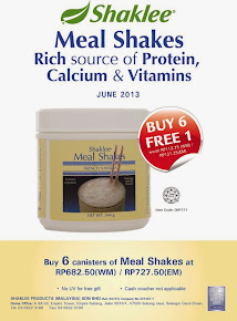June 2013 Offer : Mealshakes Buy 6 Free 1