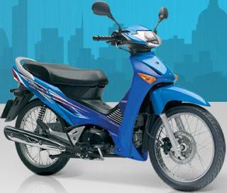 Blue Honda Innova 125
