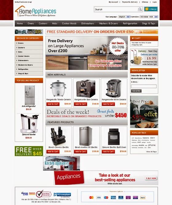 thiết kế web bán hàng gia dụng đẹp