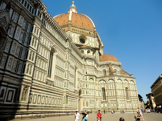 Exterior of the Cathedral of Santa Maria del Fiore in the Piazza del Duomo, Florence, Italy