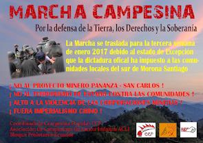 MARCHA CAMPESINA CONTRA EL IMPERIALISMO MINERO