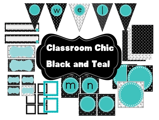 Upscale Classroom Decor ~ Black and teal themed classroom ideas native home garden