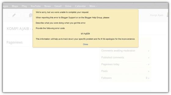 Mengatasi Error BX Blogger