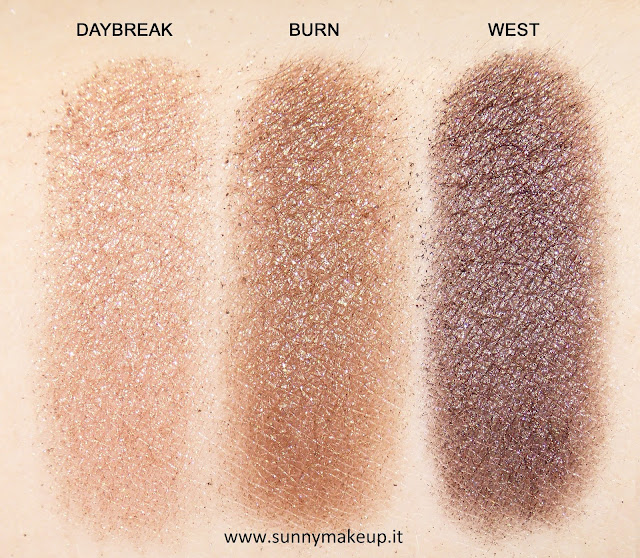 Swatch Urban Decay - Urban Spectrum Eyeshadow Palette. Palette di ombretti.