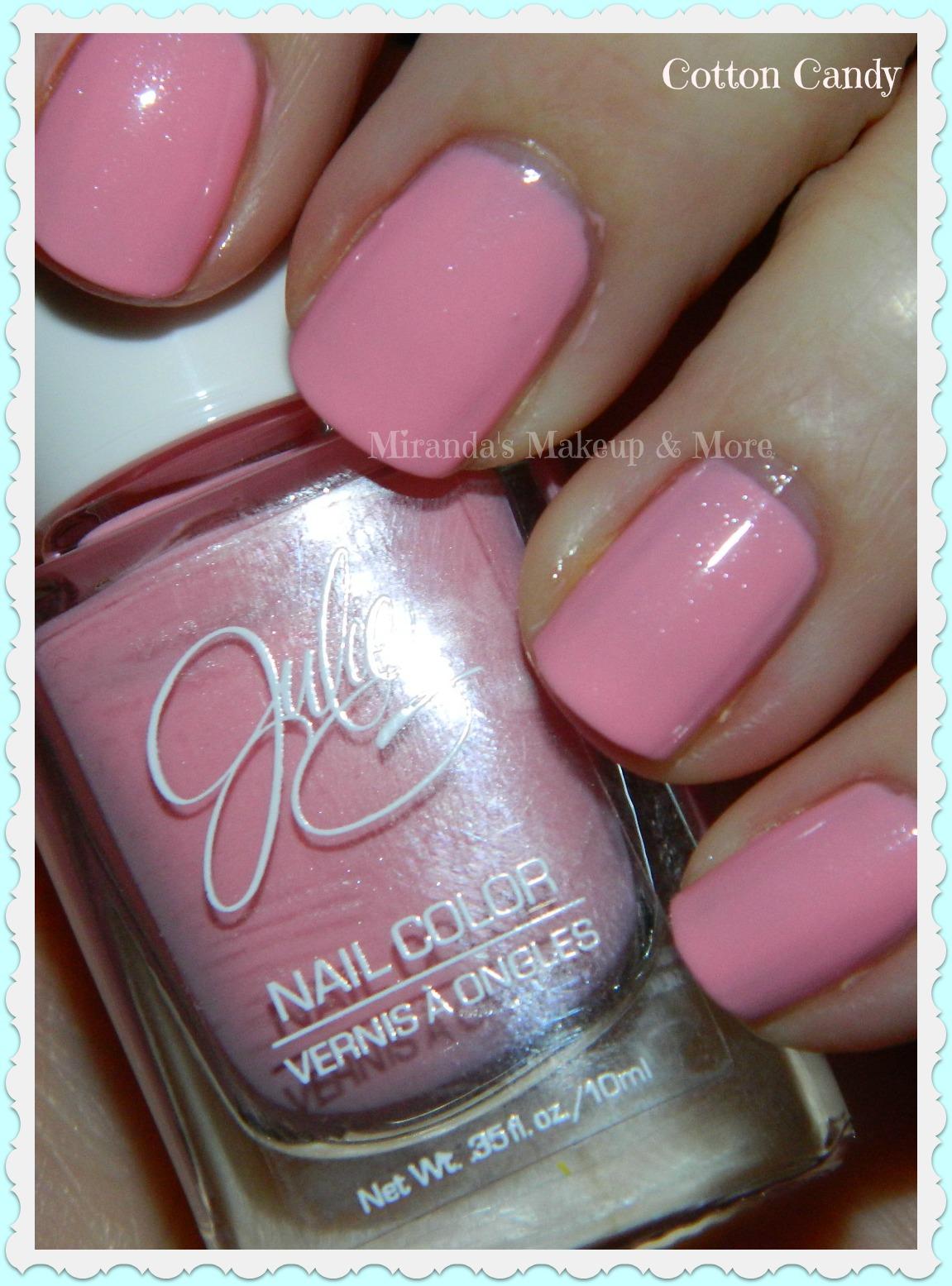 Mirandas Makeup: Julie G Nail polish: Cotton Candy