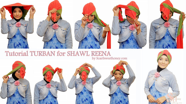 Koleksi Tutorial Jilbab Turban Segi Empat untuk Pesta ala Dian Pelangi