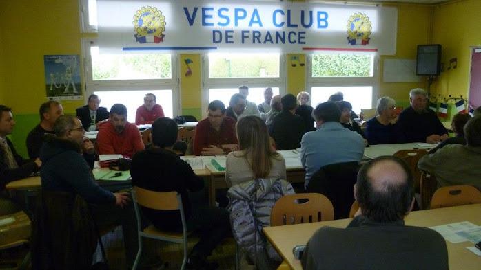 Assemblée générale du Vespa Club de France 17 Mars 2013