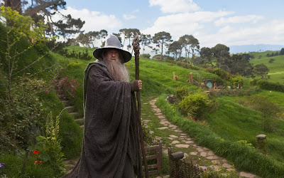 Misterioso señor mirando el paisaje desde la gran colina