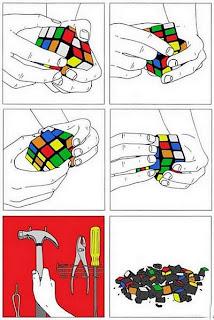 rubik cube solve hammer demolition, rubike cube solution funny, funny pictures rubik cube, rubik cube