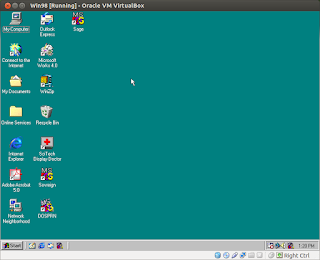 Win98 running in VirtualBox on Ubuntu