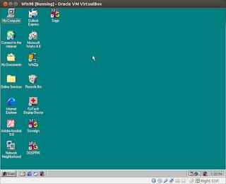 Win98 running in VirtualBox on Ubuntu