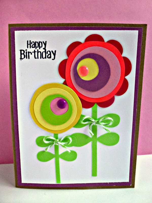 Pretty Paper Pretty Ribbons Flower Birthday Card