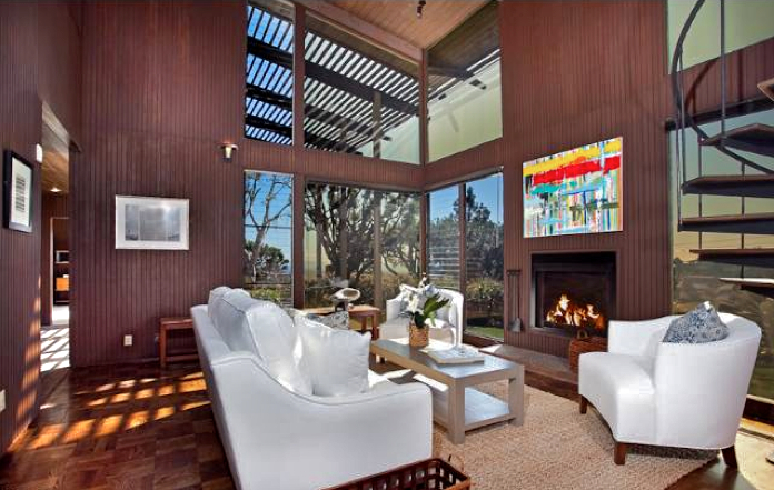 Story Gallery With Wood Paneled Walls Panels Of Glass Windows Sliders Beautiful Parquet Hard Floors And Many More Architectural Details That