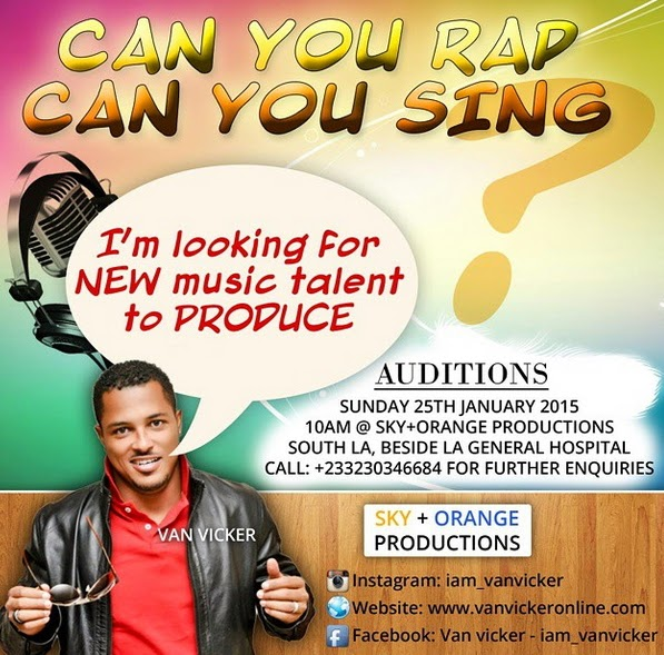 van vicker singing audition