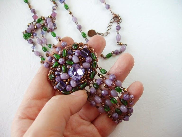 handmade necklace collier kette perles perlen alte ancien