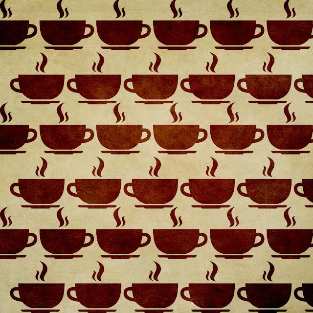 Kaffeetassen-Muster, Tasse von flaticon.com, Textur von Kim Klassen