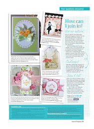 My card was featured on Papercraft inspirations Magazine from UK